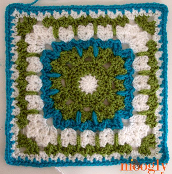 Moogly Afghan Crochet-a-Long 2014 Block #16: See How they Run by Margaret MacInnis