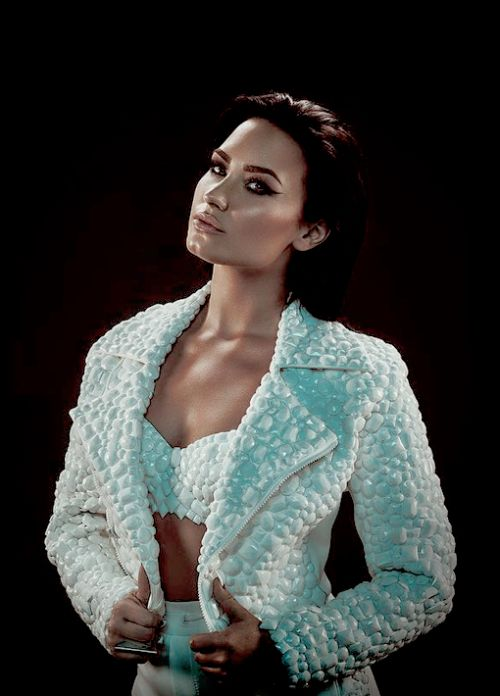 Demi lovato--Because she is one of the most inspirational, beautiful people in the world. Thank you so much Demi for helping other girls including me to become more confident!