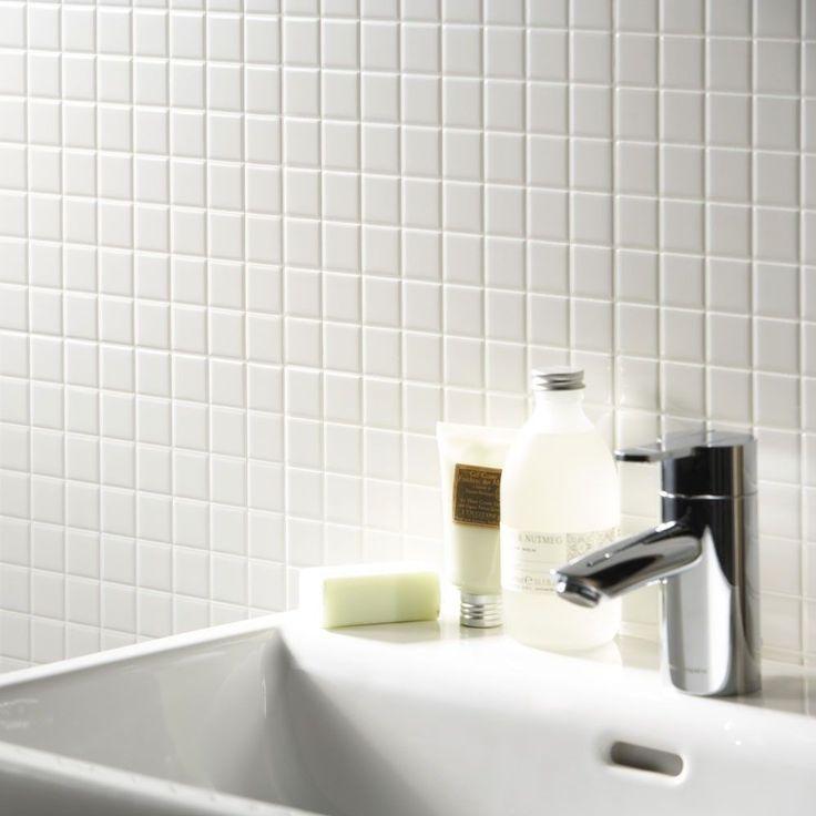 Matt White Square Small Tiles Toto Gloss & Matt Mosaic Tiles 305x305x5.2mm Tiles
