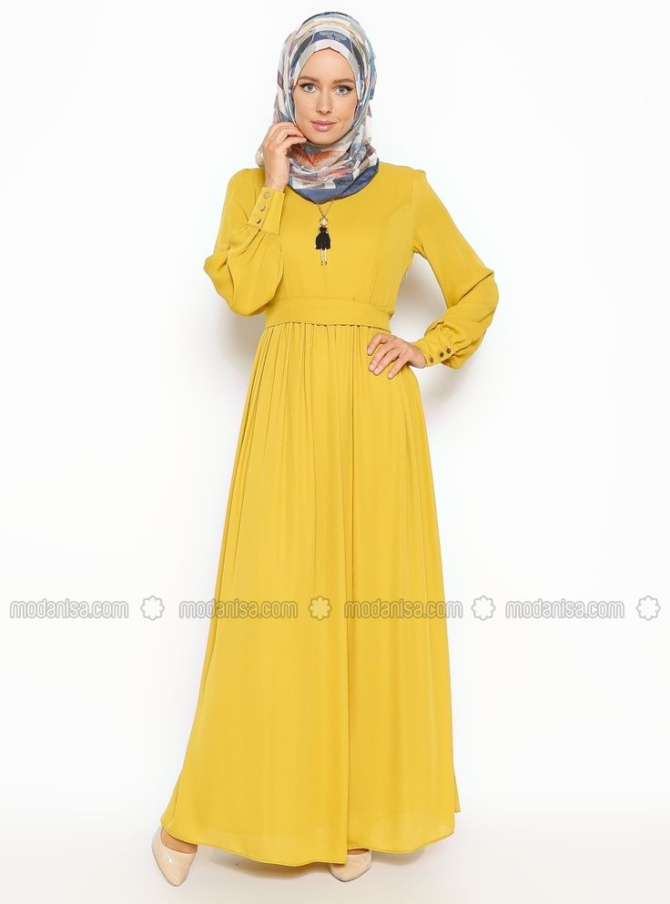 Neckleces Dress - Yellow - Eva Fashion
