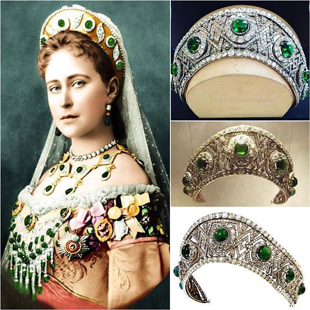 THE EMERALD KOKOSHNIK TIARA OF GRAND DUCHESS ELIZABETH FEODOROVN | Royal  jewels, Royal jewelry, Royal tiaras