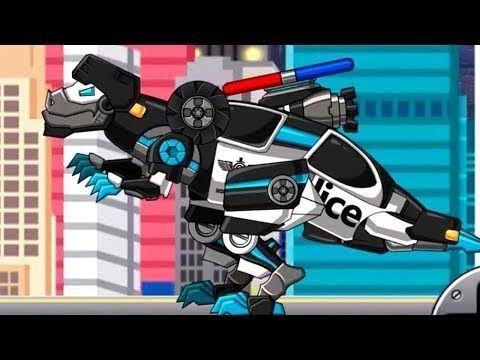Робот-Трансформер-Динозавр-Полицейская машина. Мультик-игра для детей
