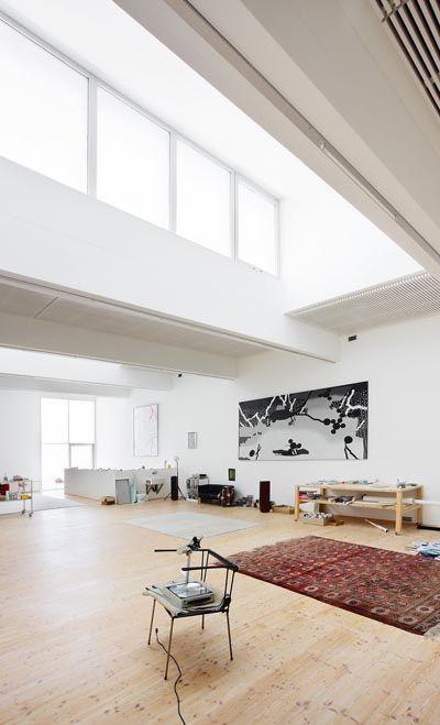 Albert Oehlen's studio in Bühler, Switzerland.