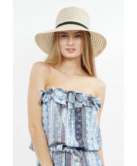 BLACK RIBBON HAT - MINEOLA Online Shopping Fashion Indonesia