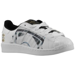 adidas Originals Superstar - Boys\u0027 Grade School - White/Black/Gold Metallic