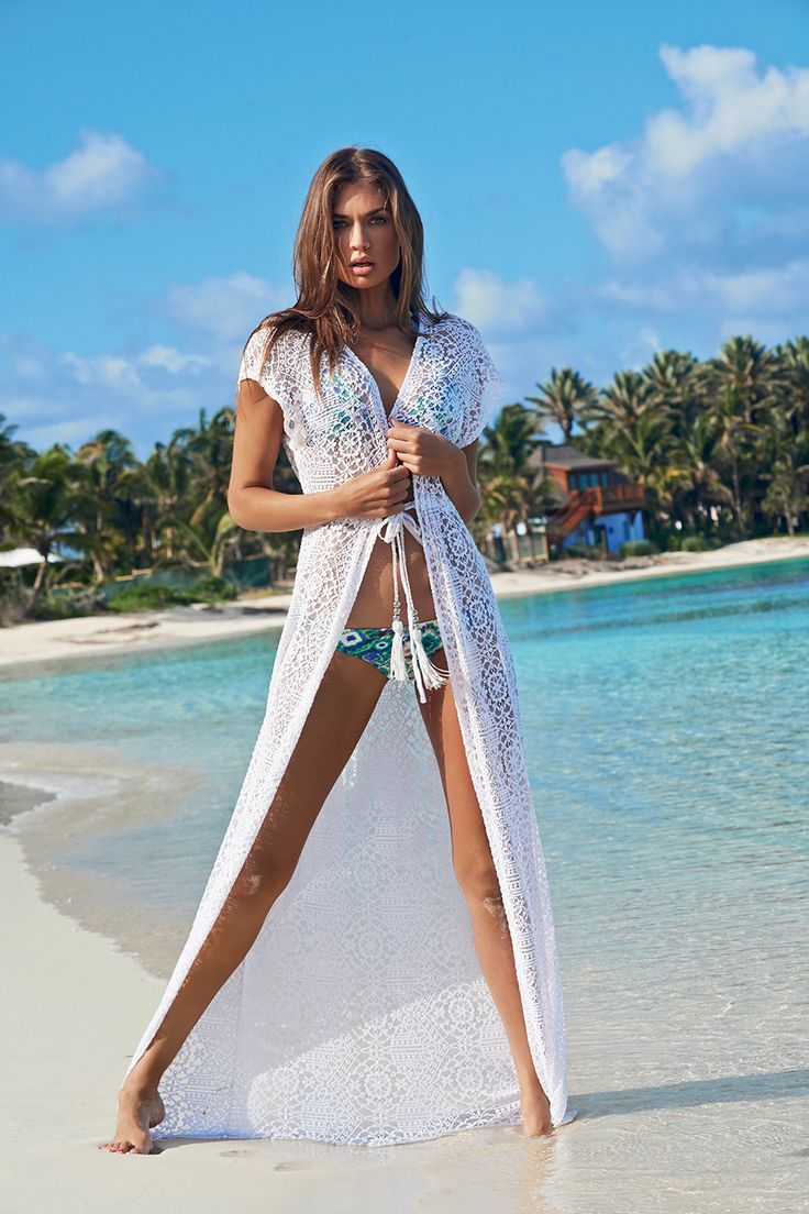 La leela elegant sexy beach wear women resort dresses bikini cover up top tunic cover up
