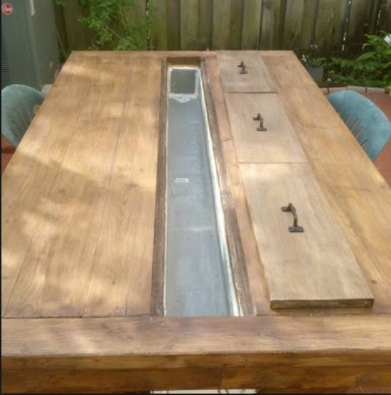 Trough Table With Tops