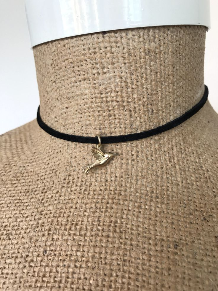 A personal favorite from my Etsy shop https://www.etsy.com/ca/listing/534890533/black-suede-choker-wrap-neckalce-with