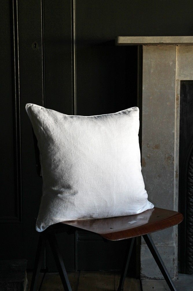 Lisbon Soft Linen Cushion - White from Rockett St George £32