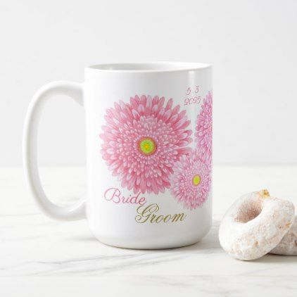 Pink Gerbera Wedding Mug - decor gifts diy home & living cyo giftidea