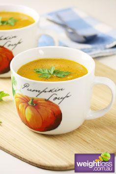 Healthy Soup Recipes: Pumpkin Soup. #HealthyRecipes #DietRecipes #WeightlossRecipes weightloss.com.au