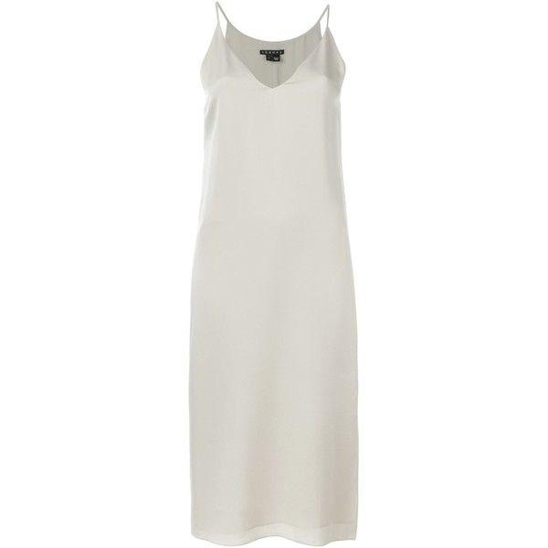 Theory Midi Cami Dress ($358) ❤ liked on Polyvore featuring dresses, theory, silk cami, midi dress, calf length dresses, cami midi dress and camisole dress