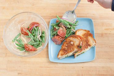 Heirloom Tomato & Fontina Grilled Cheese Sandwiches with Dijon-Dressed ...