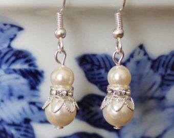 Set van 6 witte parel colliers parel bruidsmeisjes door Pearlland88
