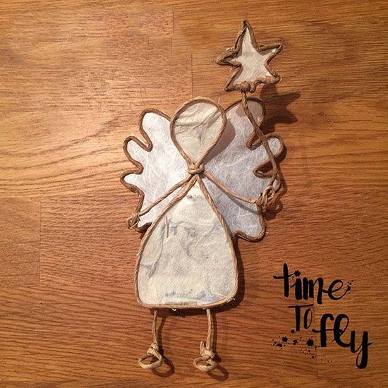 Gesehen und verliebt - in diesen hübschen Engel aus Papierdraht. Gefunden in der D.I.Y. - Das Kreativmagazinvon TOPP