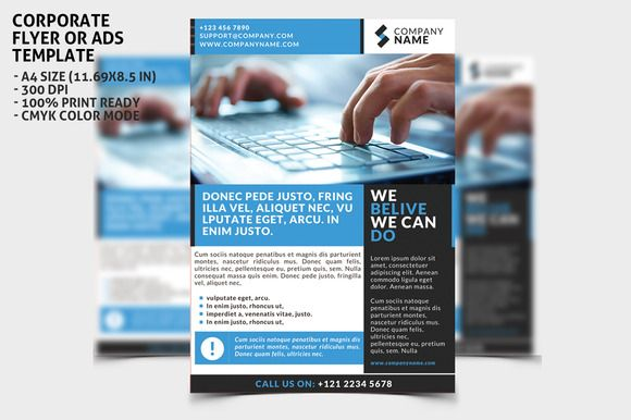 Check out Corporate Flayer Ads Template 1 by WonderShop on Creative Market