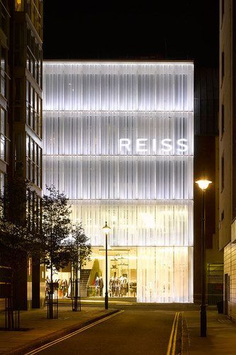 PMMA / acrylic sheets - cheaper than glass - Squire & Partners, Reiss Headquarters.