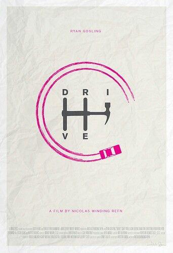 "Buenisimo cartel conceptual de la película ""Drive"""