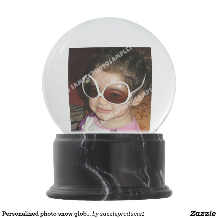Personalized photo snow globe. Make your own!