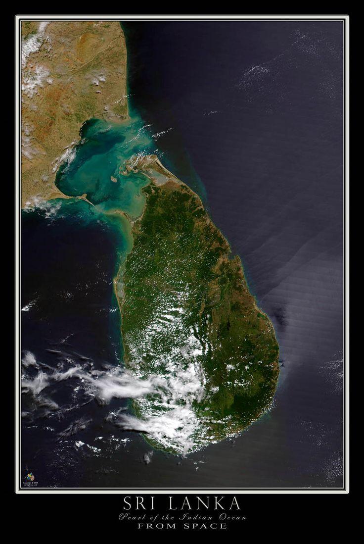 Terra Prints aerial satellite posters depicting views