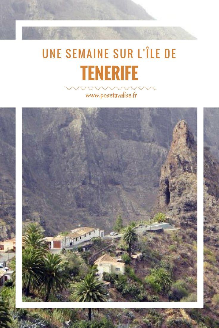 Tenerife du nord au sud : que voir et que faire sur l'île de Tenerife, dans l'archipel des Canaries ?  Retrouvez tous les lieux incontournables à visiter sur l'île pour réaliser votre itinéraire et préparer vos vacances ! Notamment : le Parc National del Teide, le village de pirates de Masca, Garachico, Santiago del Teide, Icod de los Vinos... Les plages de sable noir... Toutes les informations sont sur mon blog de voyage. | #tenerife #Espagne #canaries #voyage #blog #travel #paysage