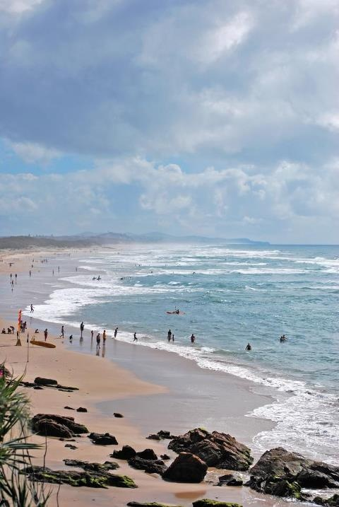 one of the many beaches on the beautiful sunshine coast.....australia
