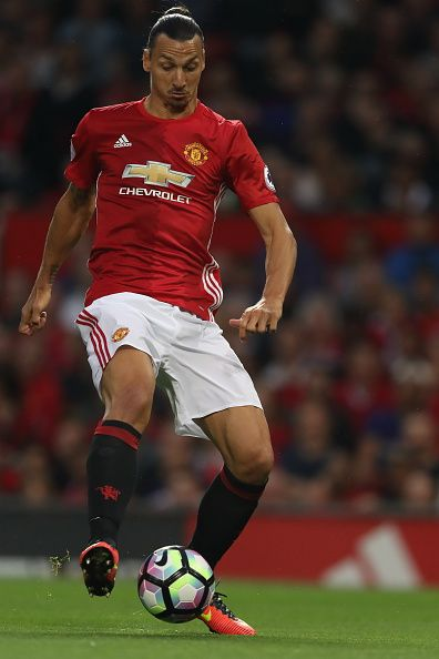 Zlatan Ibrahimovic of Manchester United during the Premier League match between Manchester United and Southampton at Old Trafford on August 19 2016...