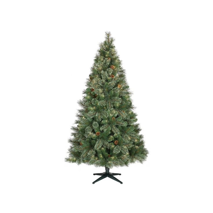 6.5ft Prelit Artificial Christmas Tree Virginia Pine Clear Lights - Wondershop, Green