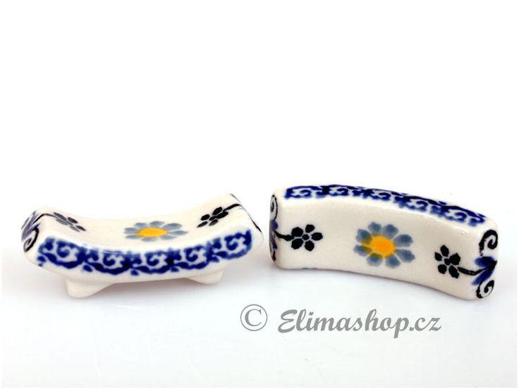 Chopsticks rest - *** ELIMAshop.cz ***  Handmade Polish Pottery from Boleslawiec . Bunzlauer keramik . ceramics . stoneware . ELIMAshop.cz , shipping worlwide . Artystyczna .