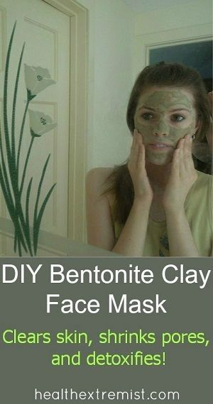 It's easy to make a natural healing face mask with this bentonite clay mask recipe. Bentoniteclay will detox skin, shrink your pores, and treat acne.