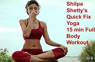Shilpa now makes the full workout Yoga much easier by introducing us to the array of a quick yoga for your entire body.