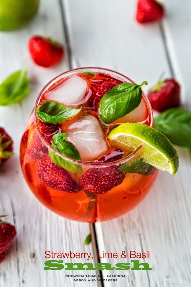 Apron and Sneakers - Cooking & Traveling in Italy and Beyond: Strawberry, Lime and Basil Smash Drink