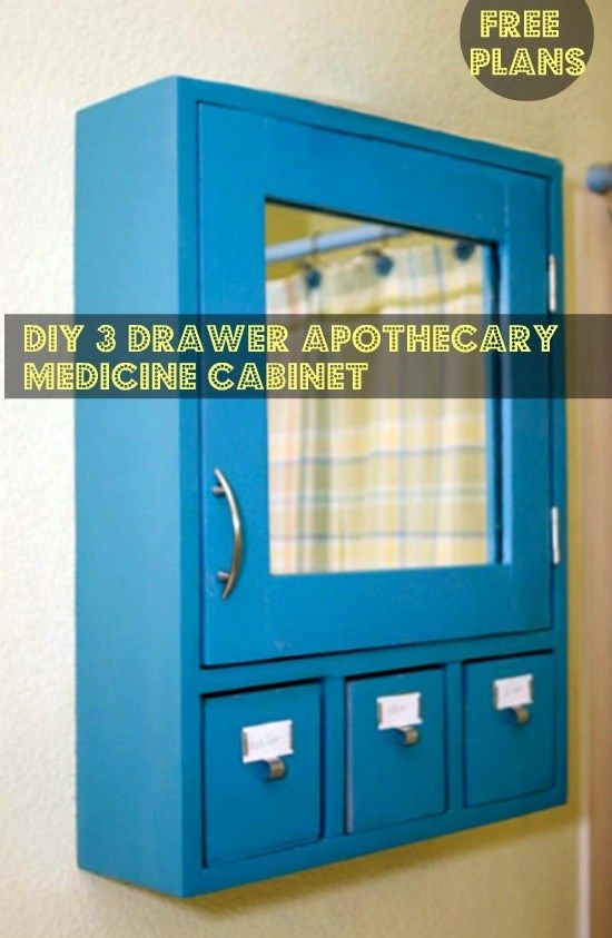 You Can Build This! Easy DIY Furniture Plans from The Design Confidential with Complete Instructions on How to Build a 3 Drawer Medicine Cabinet via @thedesconf