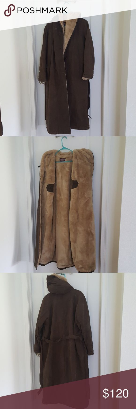 Ladies Winter Coat Custom made for New England winters, Leather out, soft blanket inside, 3/4 length, heavy, durable Jackets & Coats Trench Coats