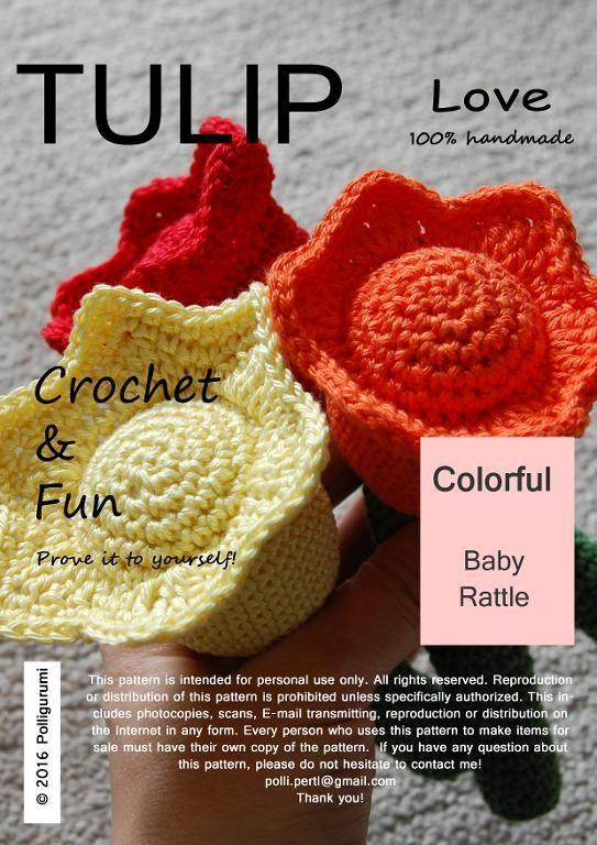 (4) Name: 'Crocheting : TULIP Baby Rattle Amigurumi Pattern