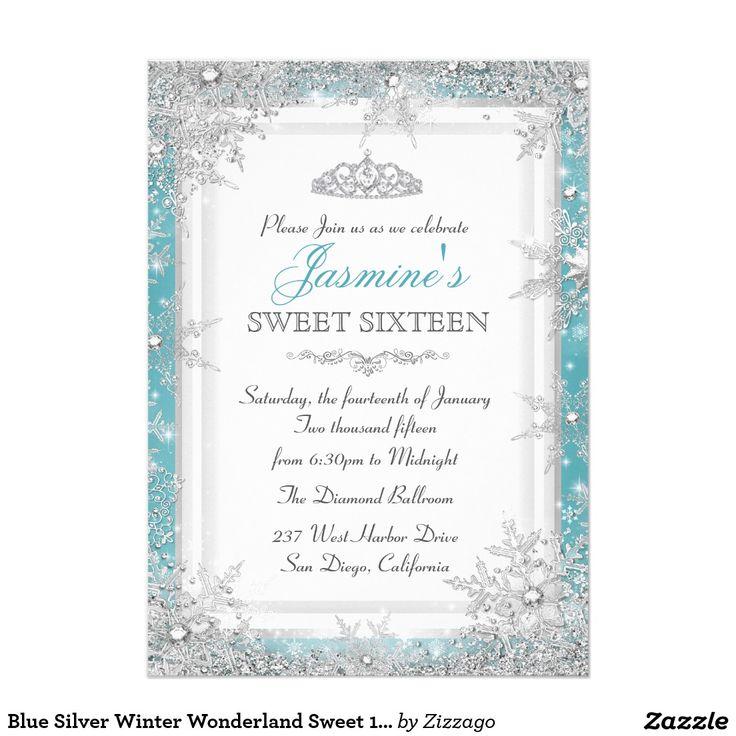 233 best Winter Wonderland Sweet 16 Ideas images on ...