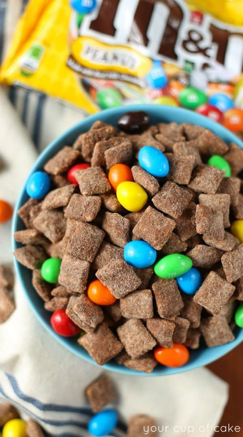 Chocolate Brownie Muddy Buddies (rice chex, better than PB, brownie mix or chocolate protein powder)