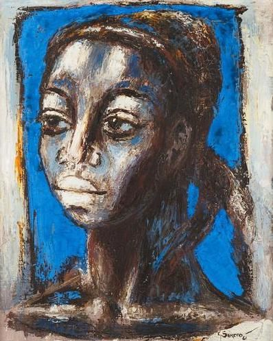 Blue head - Gerard Sekoto