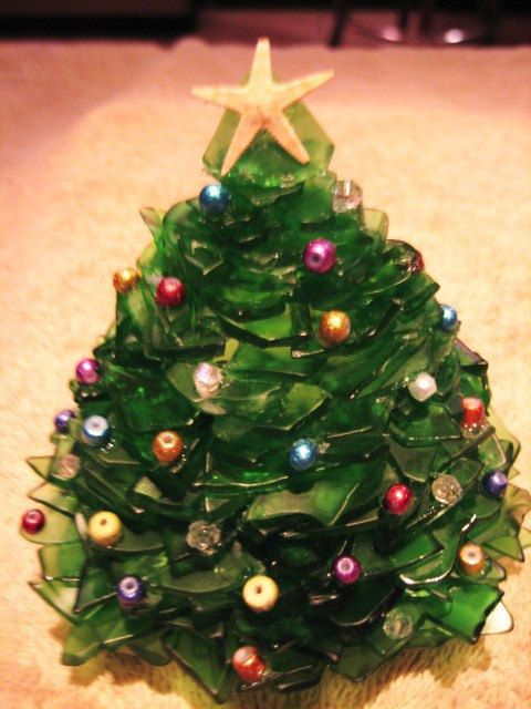 Large Green Or White Sea Glass Christmas Tree Made To Order