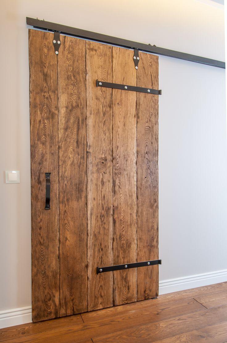 #barn #door #natural #wood #metal #interiordesign #interior #detail #handle #handemade #artecubo