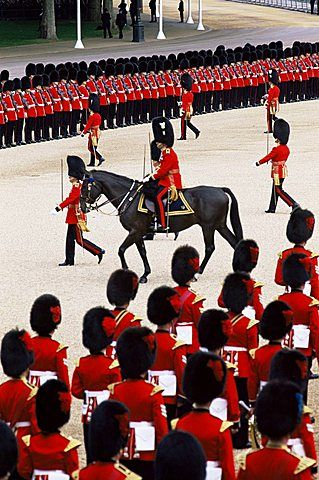 Trooping of the Colour Ceremony at Horse Guards Parade Whitehall, London, England, United Kingdom, Europe