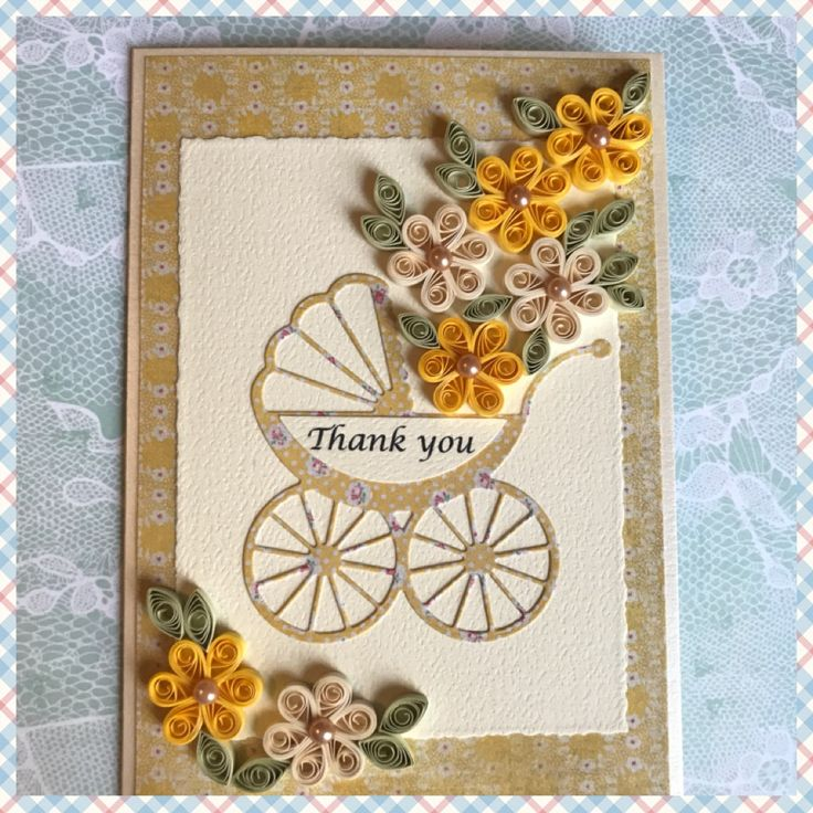 Quilled Baby carriage