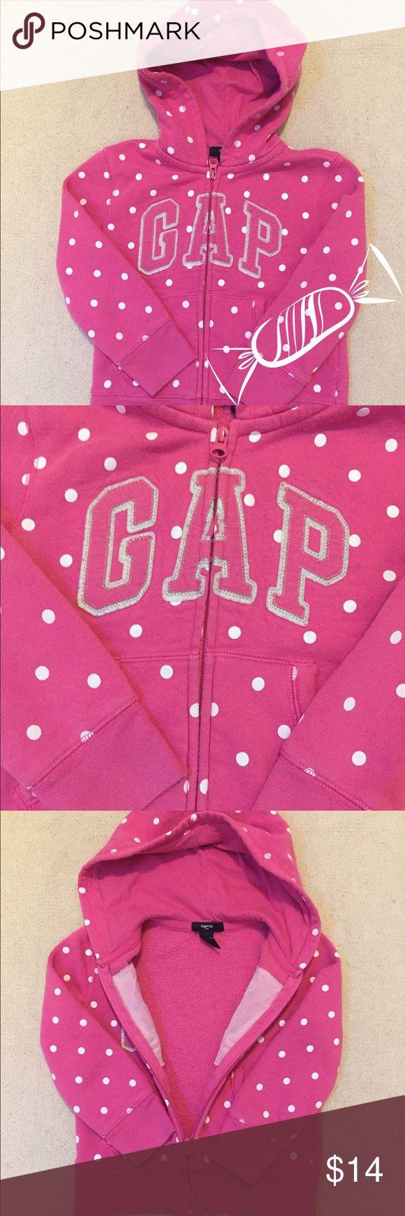 🌟$7 if bundle 2🌟Gap Pink Zip Up Hoodie Body is 77% Cotton & 23% Polyester. Hood Lining is 100% Cotton GAP Shirts & Tops Sweatshirts & Hoodies