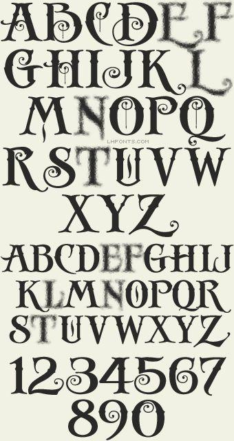 """""""Rare and Unique fonts"""" Letterhead Fonts / LHF Antique Shop / Decorative Fonts  Expensive, but beautiful."""
