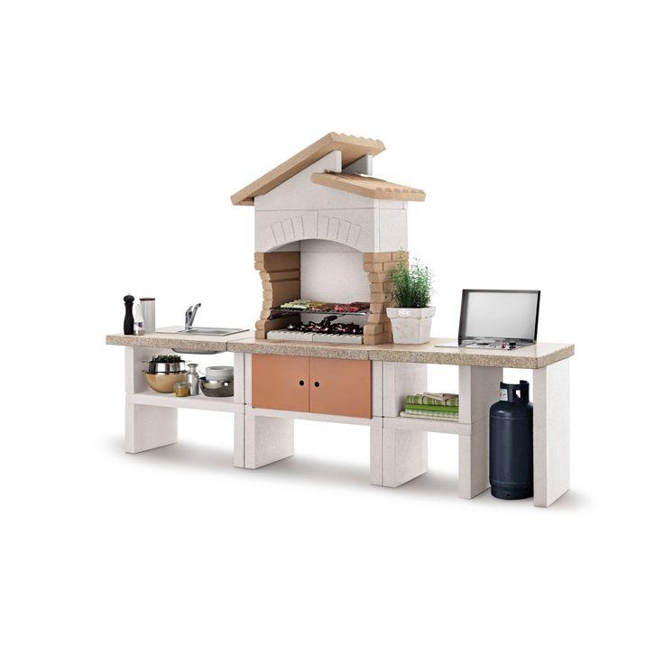 Scopri la cucina da esterno Cordoba ideale per 12 persone, con fornello, cuoce sia a carbone che a legna. Prezzi e offerte online o nei negozi Leroy Merlin.
