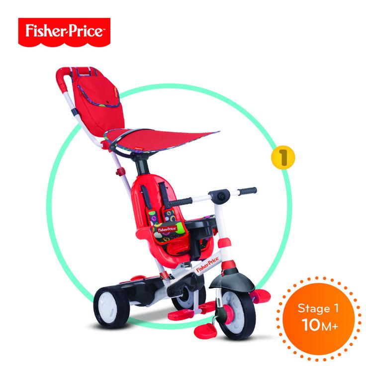 Tříkolka Smart Trike Charisma červená 3v1 - Bambule Království hraček