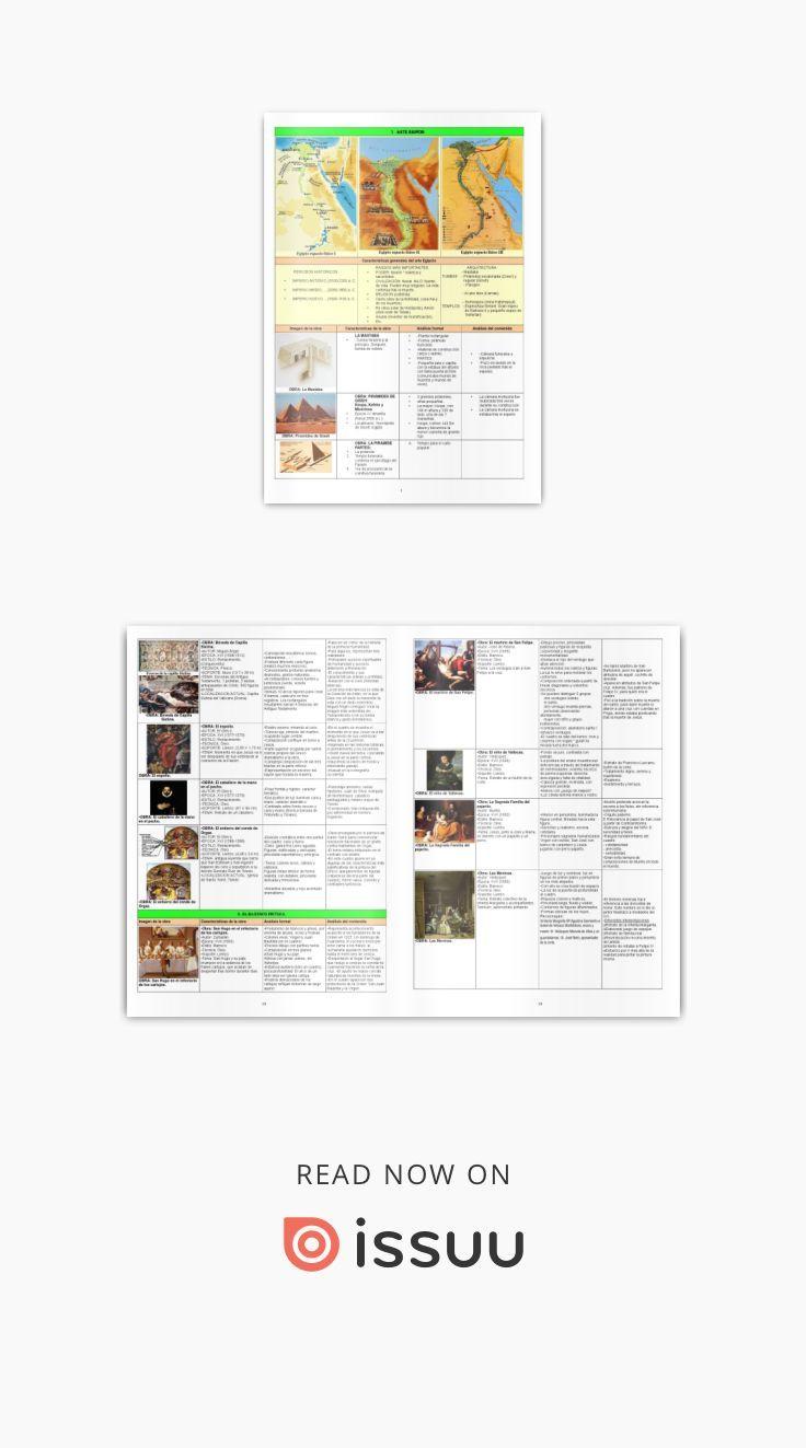 Resumen De Historia Del Arte Completo Historia Del Arte Arte Y Educacion Resumen