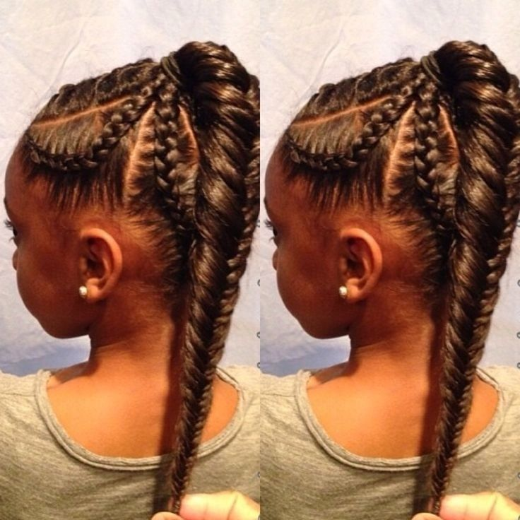 African American Braids: Fishtail Braid Hairstyle for Kids