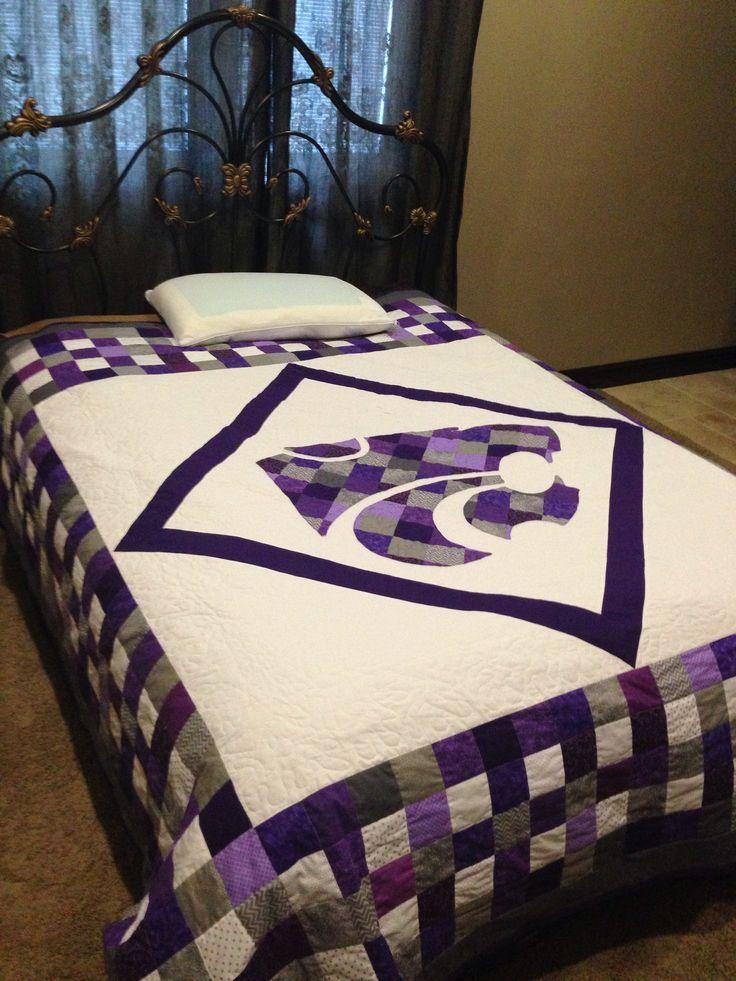Brent's K-State quilt made by Carolyn Weber #kansasstateuniversity #ksuwildcats