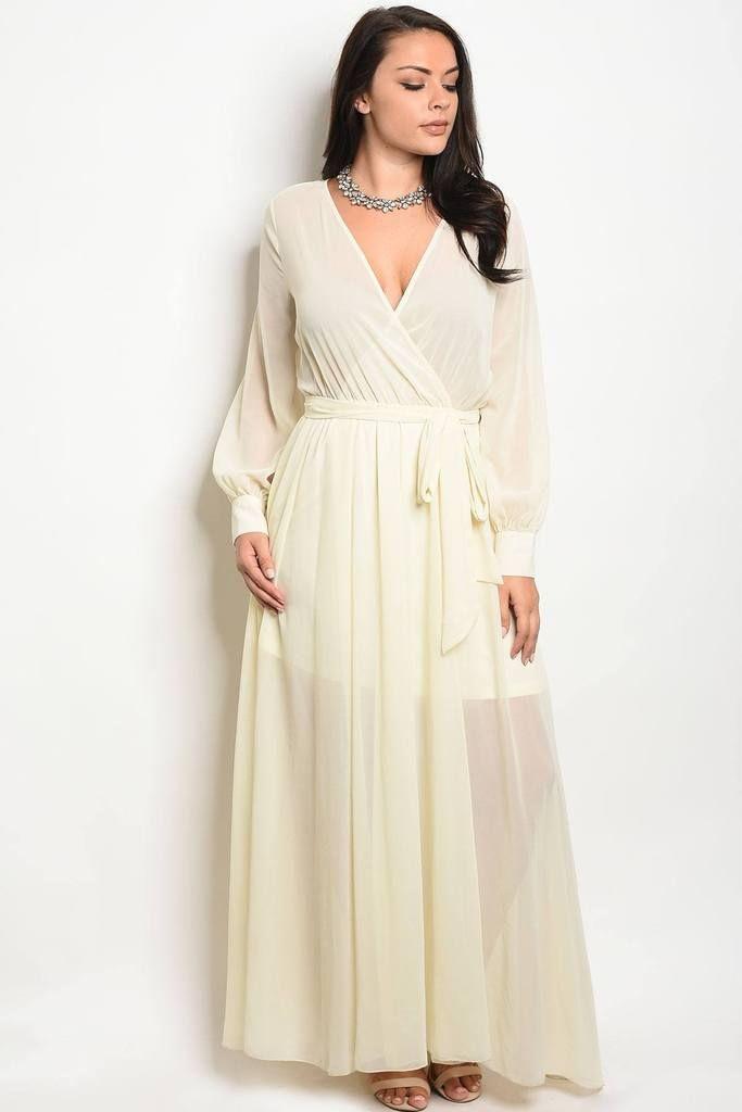 85e3030fc23 Plus Chiffon Maxi Dress. Ladies fashion plus size long sleeve ...